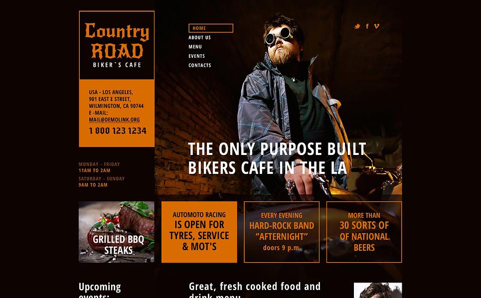 Template Siti Web Responsive #46978 per Un Sito di Bar e Ristoranti New Screenshots BIG