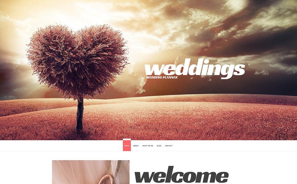 Адаптивний Шаблон сайту на тему організатор весілля New Screenshots BIG
