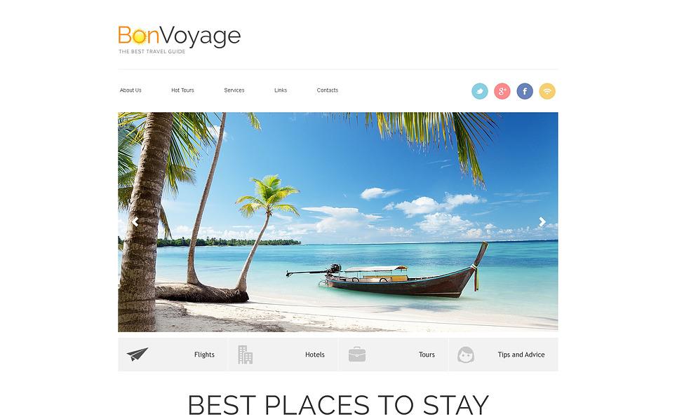 Responzivní Šablona webových stránek na téma Cestovní kancelář New Screenshots BIG