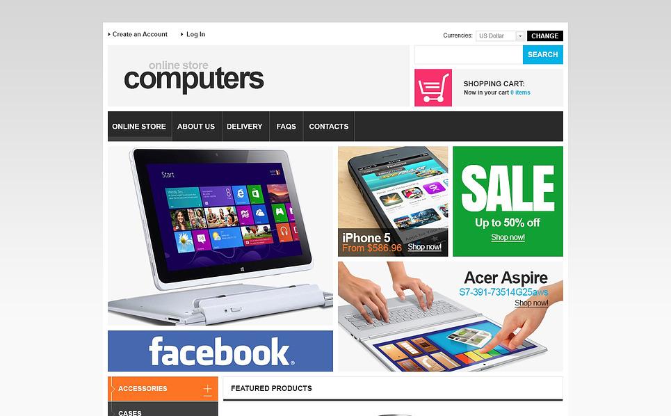 Szablon VirtueMart #46984 na temat: sklep komputerowy New Screenshots BIG