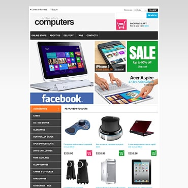 Купить  пофессиональные VirtueMart шаблоны. Купить шаблон #46984 и создать сайт.