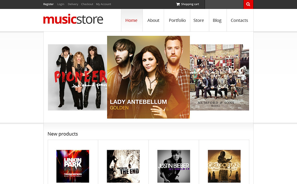 Responsive WooCommercie Thema over Muziek Winkel  New Screenshots BIG
