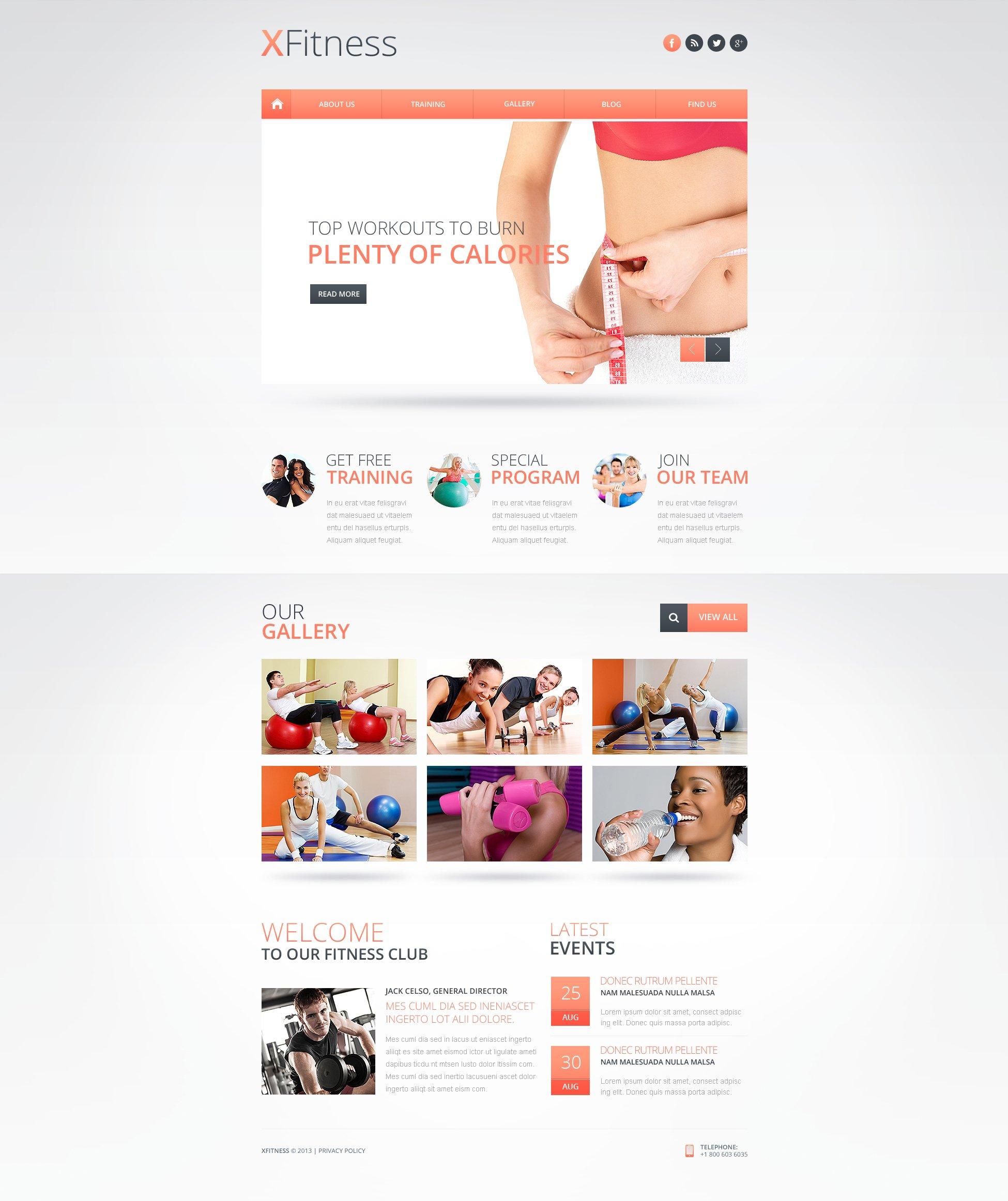 website vorlage 46993 f r fitness