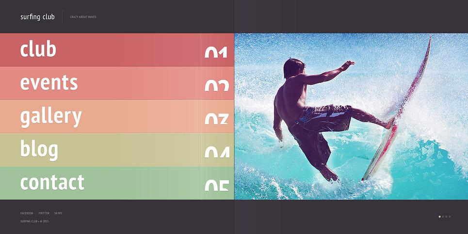 Website Vorlage für Surfen  New Screenshots BIG