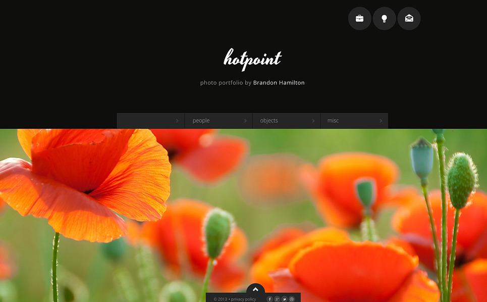 Modello Siti Web Bootstrap #46997 per Un Sito di Fotografi Portfolio New Screenshots BIG
