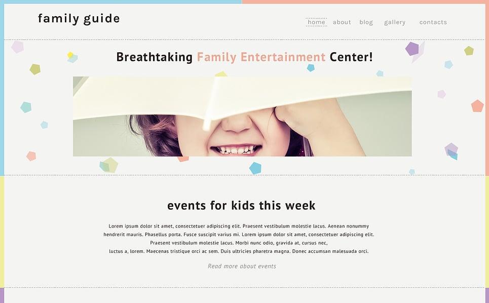 Адаптивний Шаблон сайту на тему сімейний центр New Screenshots BIG