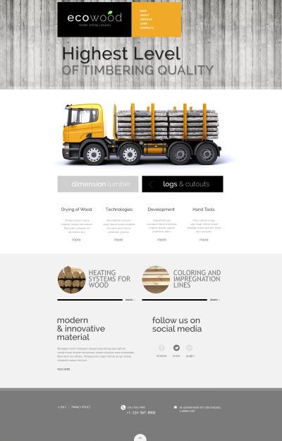 Адаптивный HTML шаблон №46912 на тему древесная продукция