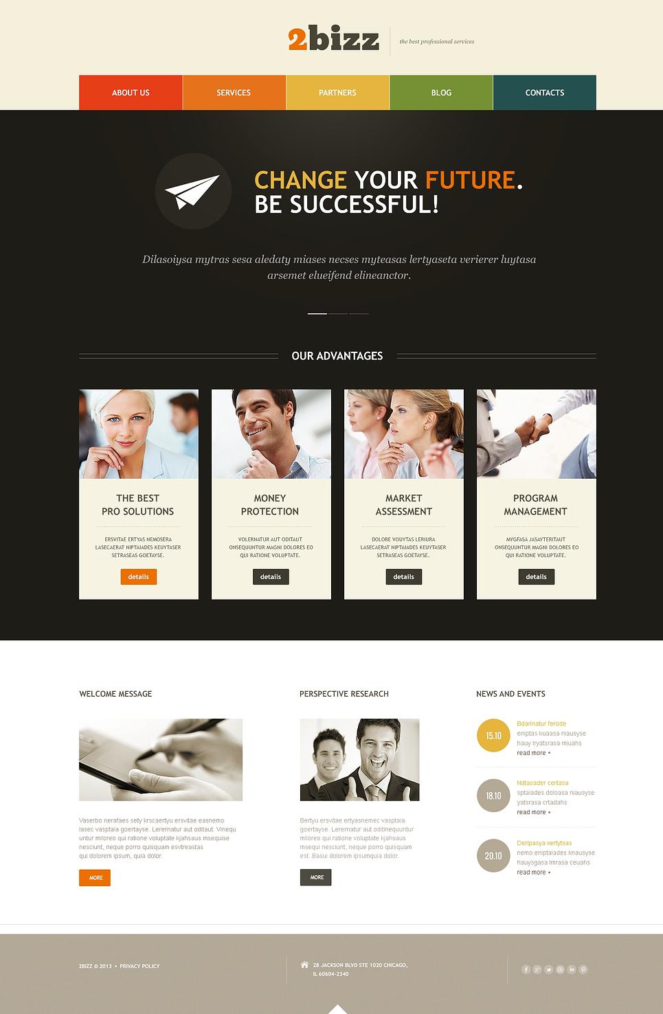 Адаптивный шаблон сайта на тему маркетинговое агентство #46906