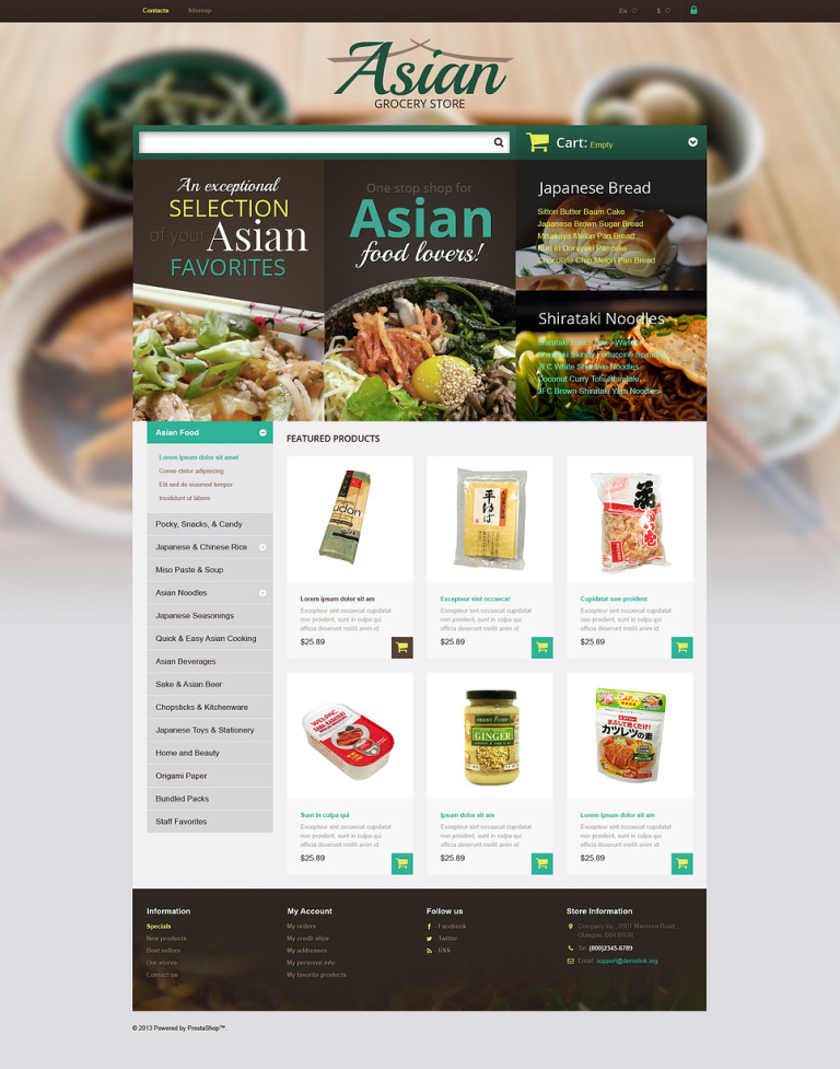 Asian Grocery Store PrestaShop Theme New Screenshots BIG