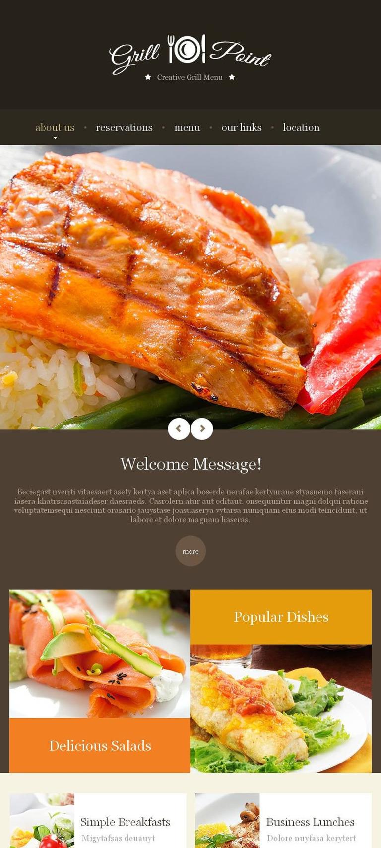 BBQ Restaurant Facebook HTML CMS Template New Screenshots BIG