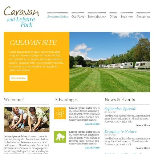 Caravan - Facebook HTML CMS Template