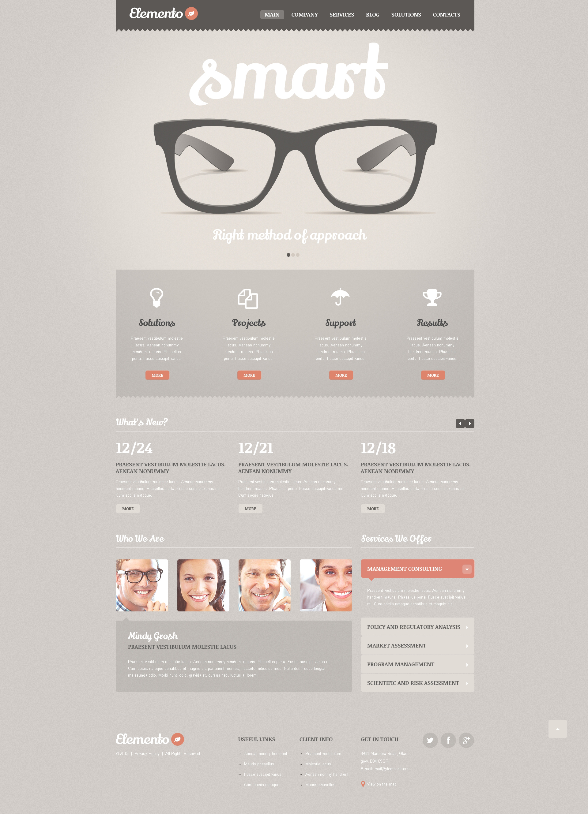 Consulting Bureau WordPress Theme - screenshot