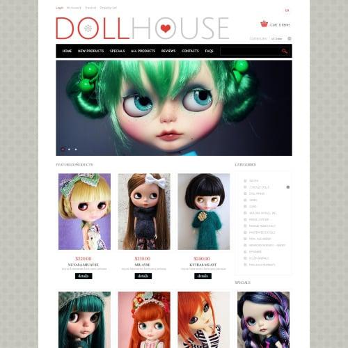 Doll House - HTML5 ZenCart Template