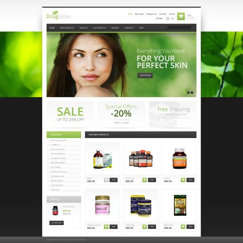 Drug Store - HTML5 ZenCart Template