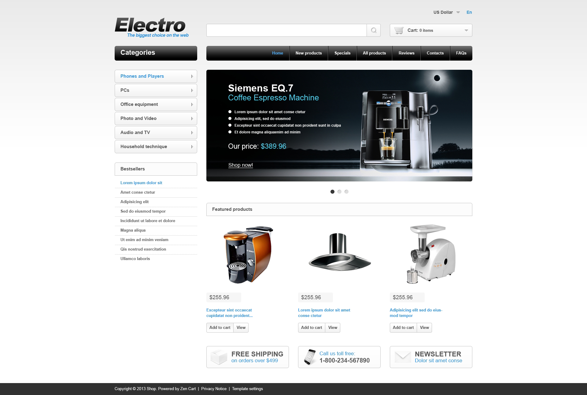 """Electro Store"" thème Zen Cart  #46973"
