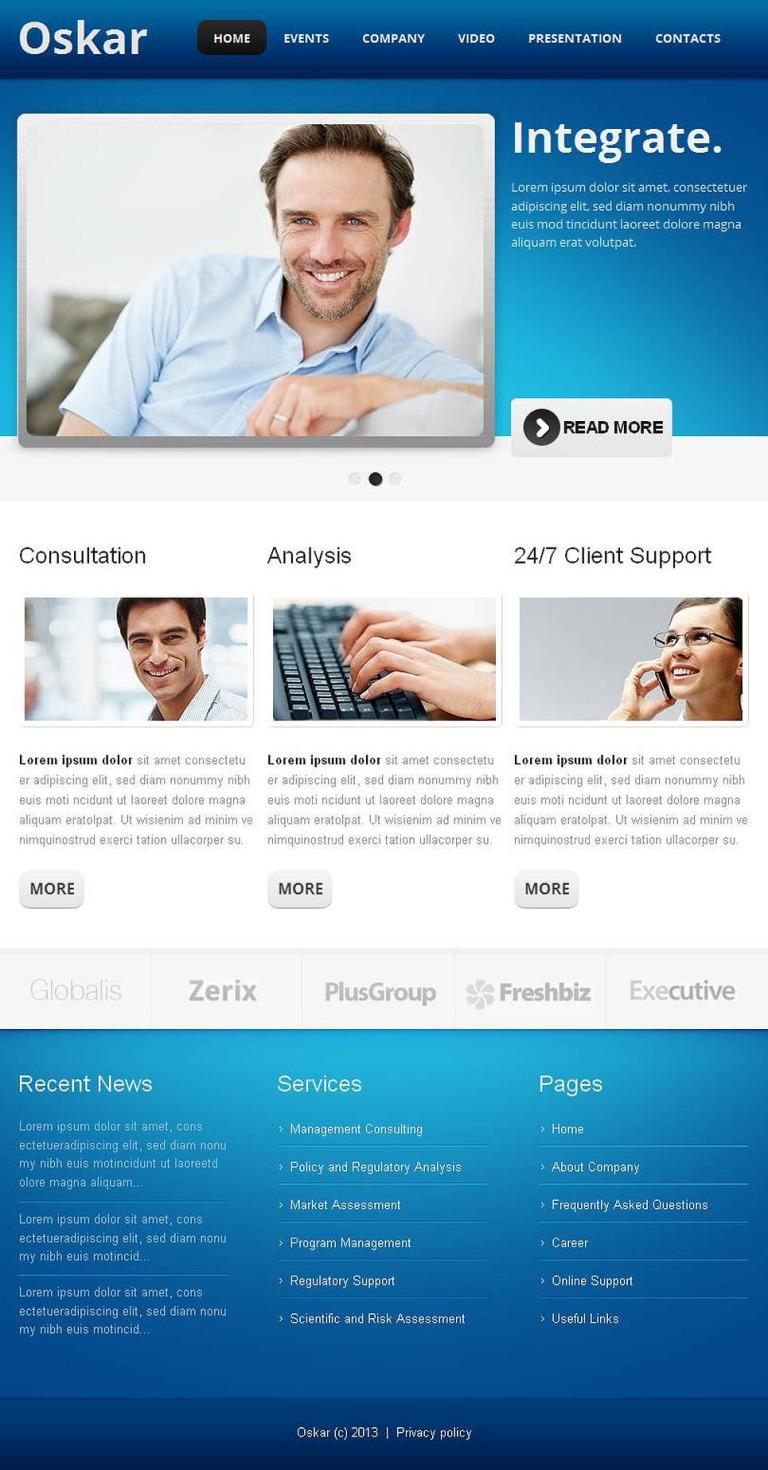 Financial Advisor Facebook HTML CMS Template New Screenshots BIG