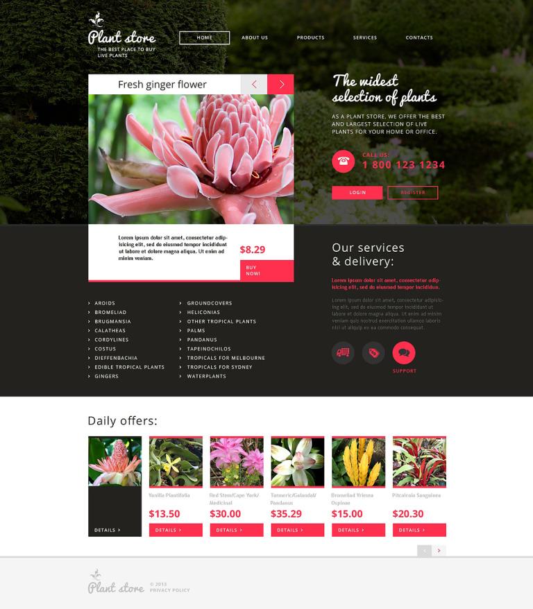 Flower Shop Responsive Website Template New Screenshots BIG