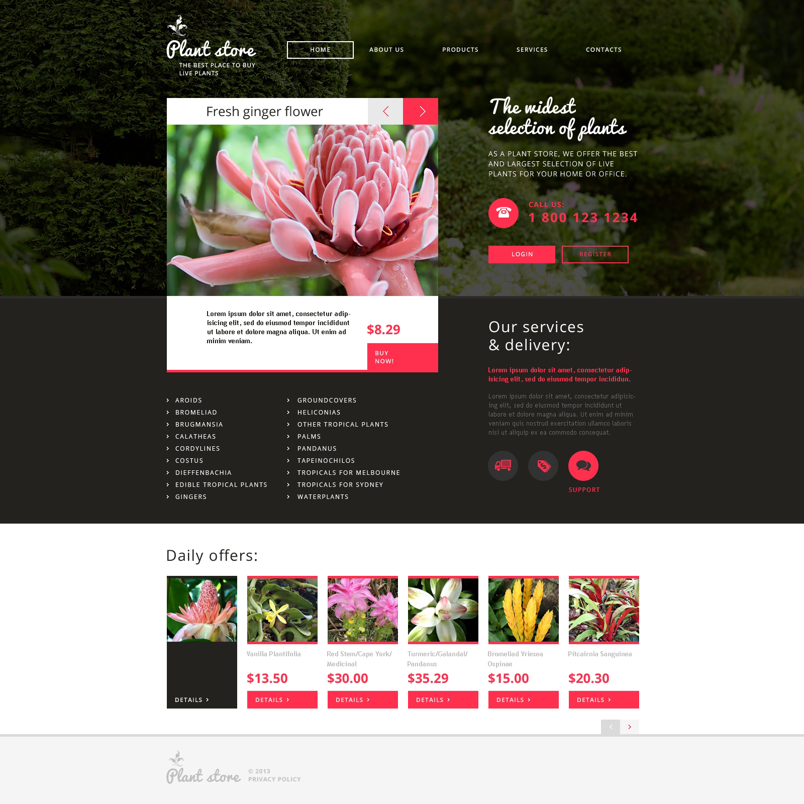 Flower Shop Website Templates | TemplateMonster