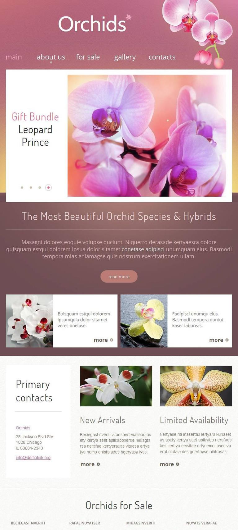 Flowers Facebook HTML CMS Template New Screenshots BIG