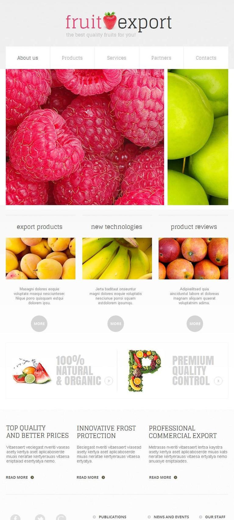 Fruit Facebook HTML CMS Template New Screenshots BIG
