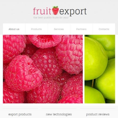 Fruit Export - Facebook HTML CMS Template