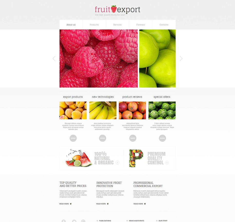 Fruit Moto CMS HTML Template New Screenshots BIG