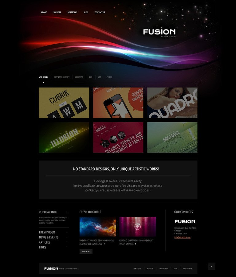 Futuristic Design Studio WordPress Theme New Screenshots BIG