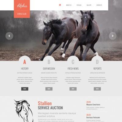 Horse website templates yadclub Images
