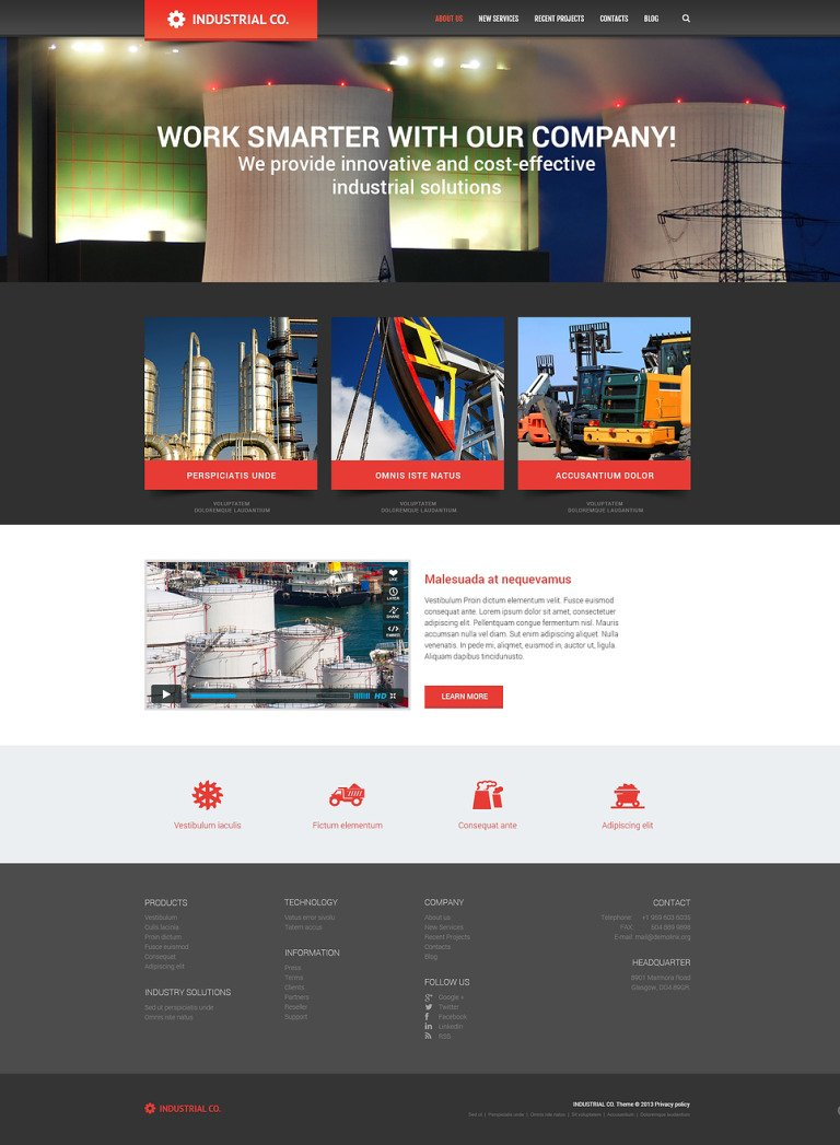 Industrial for Evolution WordPress Theme New Screenshots BIG