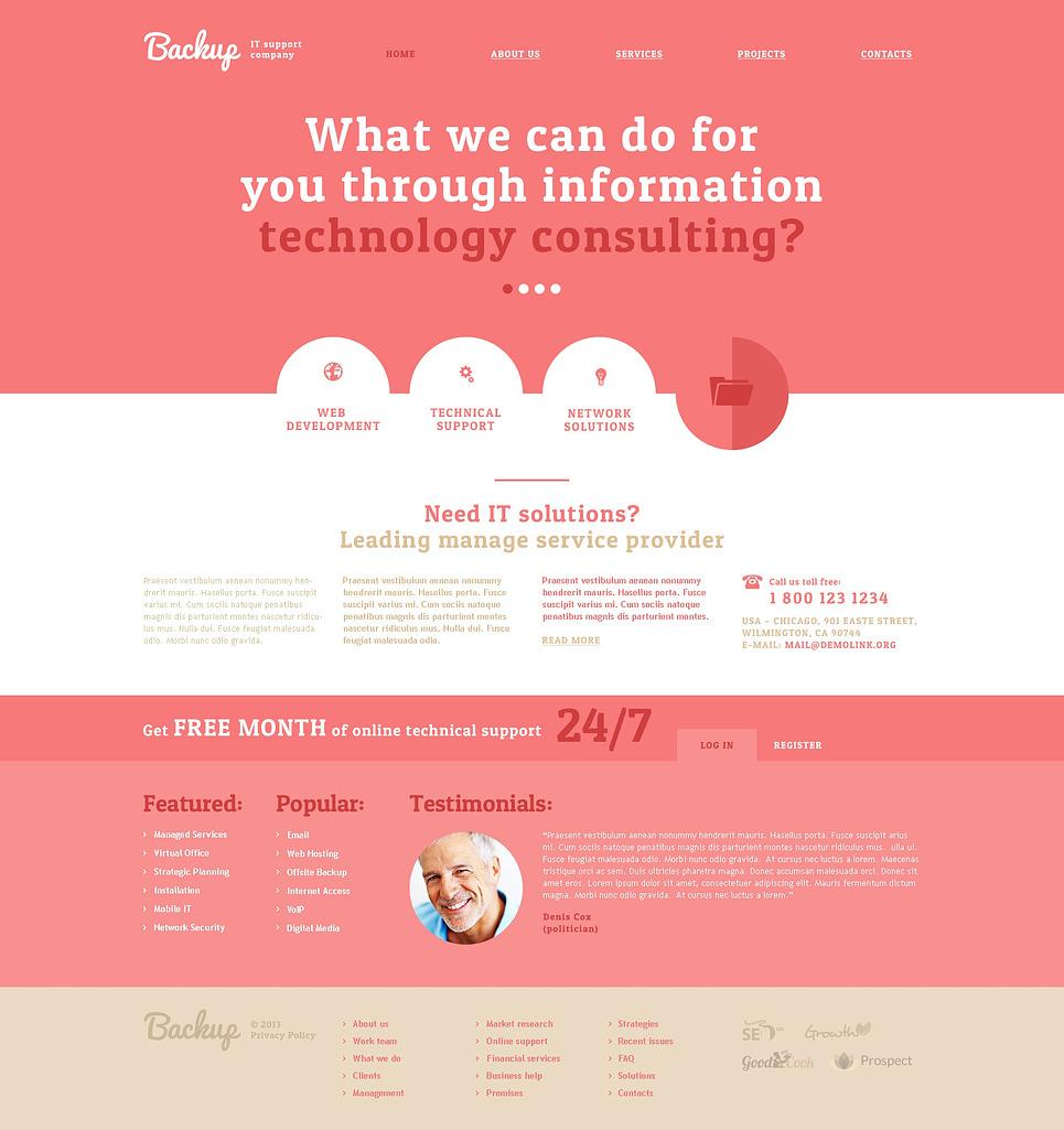 IT Responsive Website Template New Screenshots BIG