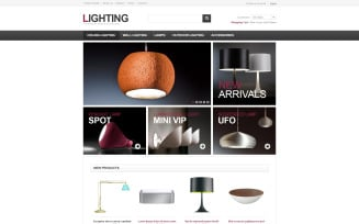 Lighting for Home and Office VirtueMart Template