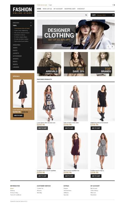 Thème OpenCart  pour boutique de mode