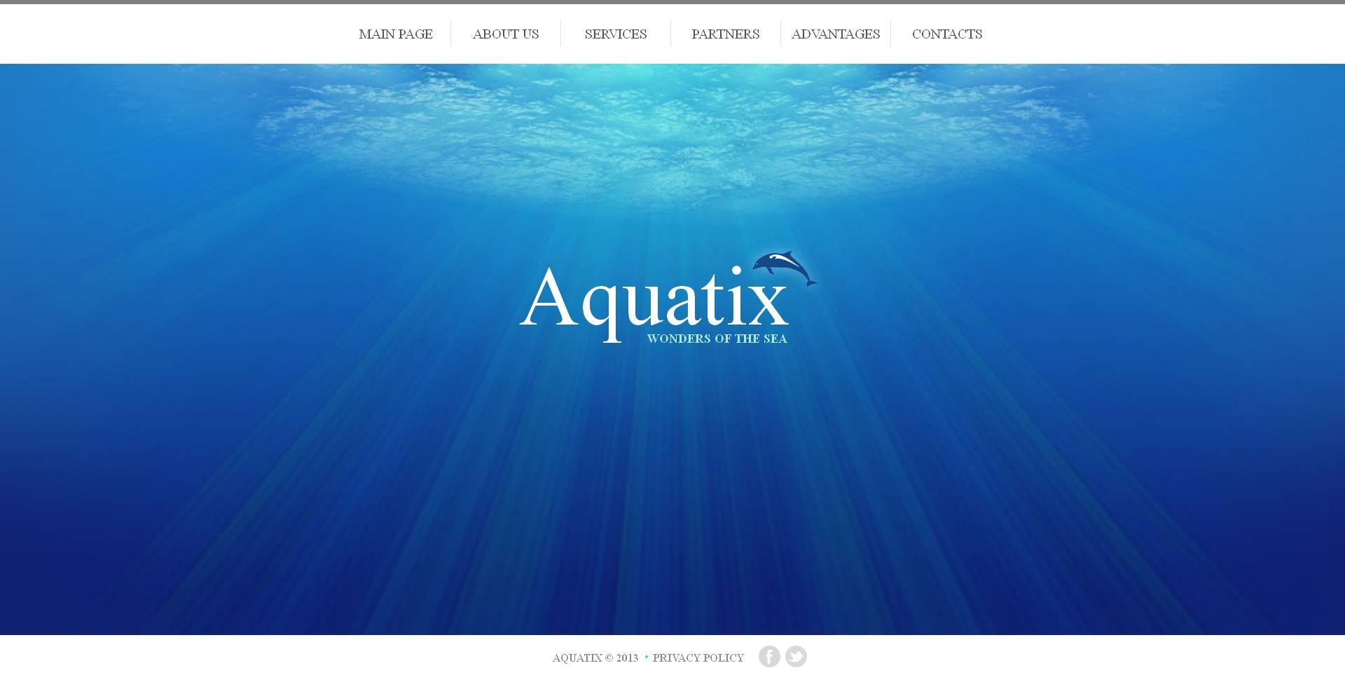 Modèle Moto CMS HTML Premium pour sites de dauphins #46938 - screenshot