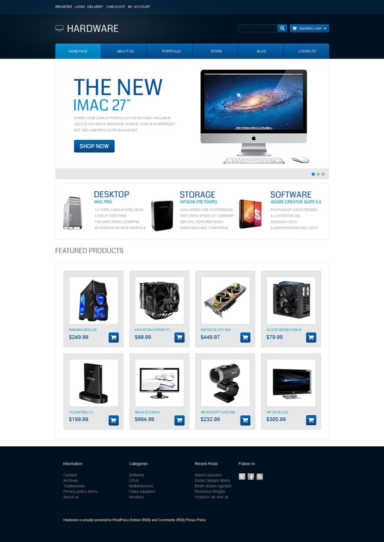 Modern Hardware WooCommerce Theme New Screenshots BIG