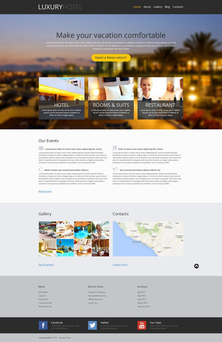 Modern Hotel Business WordPress Theme New Screenshots BIG