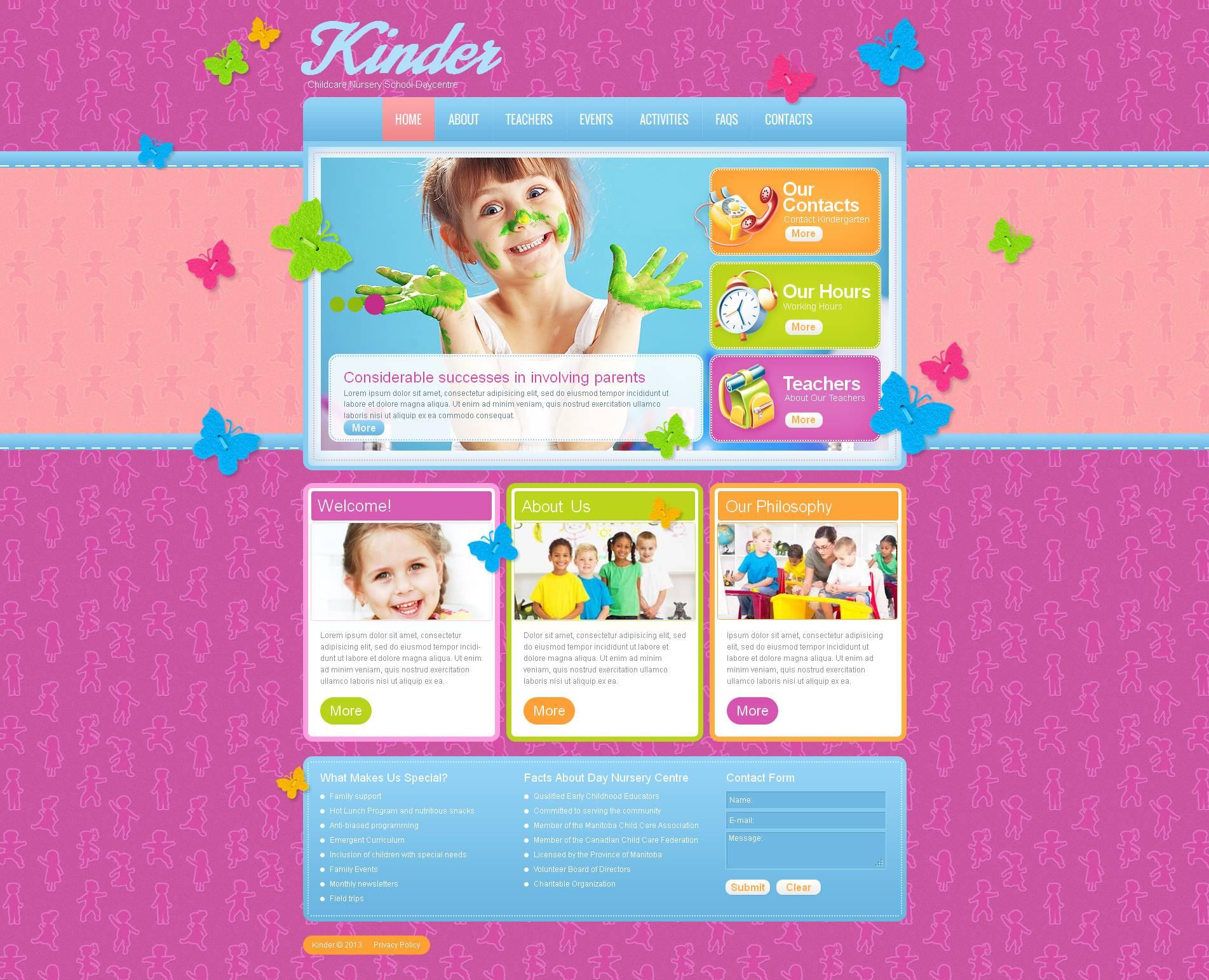 MotoCMS HTML шаблон на тему сімейний центр №46942