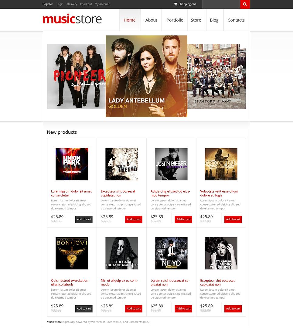 Music Store WooCommerce Theme #46986