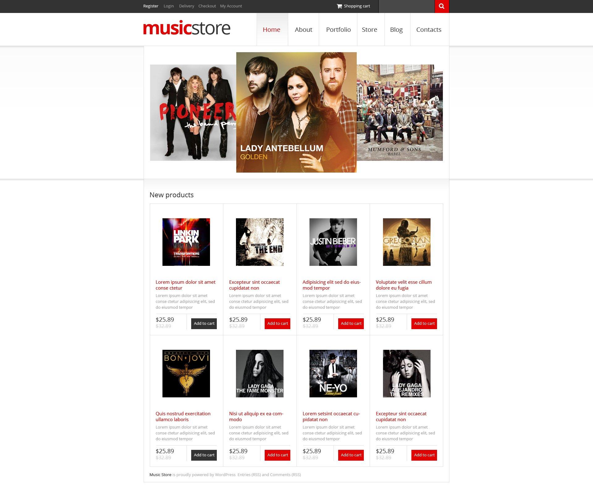 Music Store WooCommerce Theme