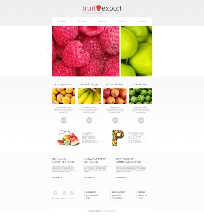 Plantilla Moto CMS HTML para Sitio de Frutas #46941