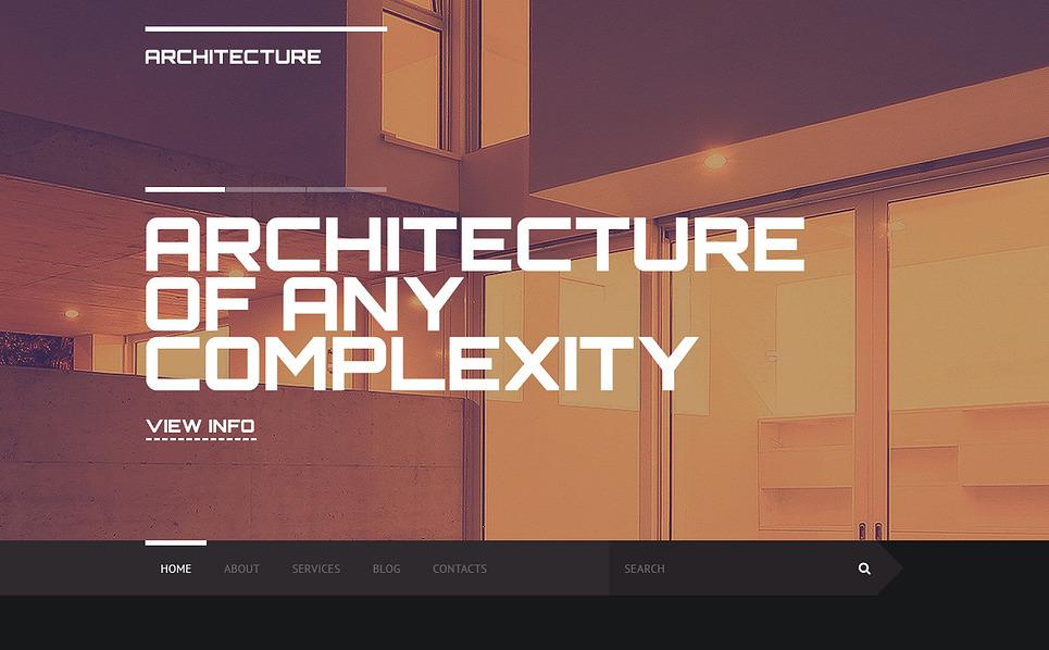 Plantilla web 46909 para sitio de para sitios de arquitectura for Arquitectura sitio web