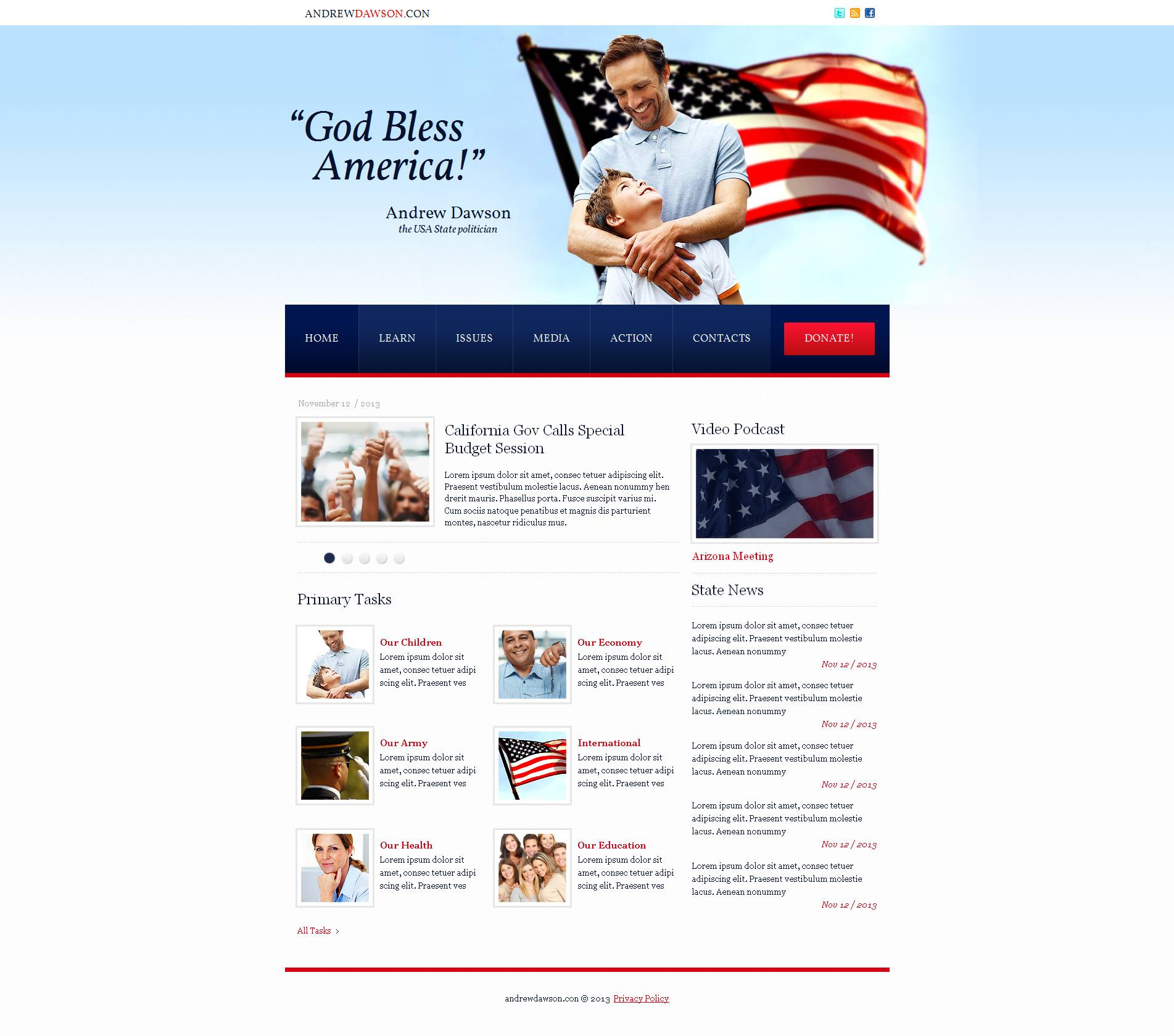 Political Party Moto CMS HTML Template
