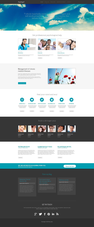Psychologist Moto CMS HTML Template