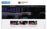 """Recording Studio - Music Minimal Responsive HTML"" modèle web adaptatif"