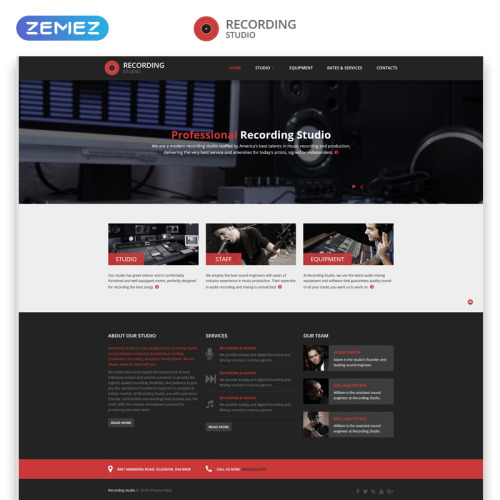 Recording Studio - Responsive Website Template