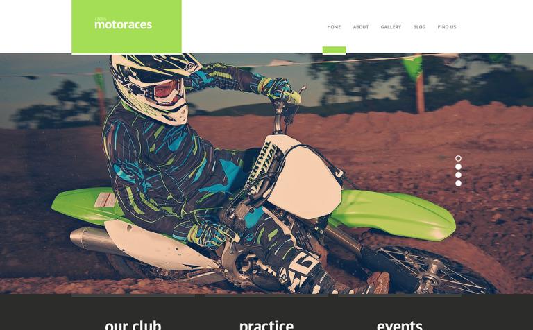 Website Vorlage #46922 für Bikerclub