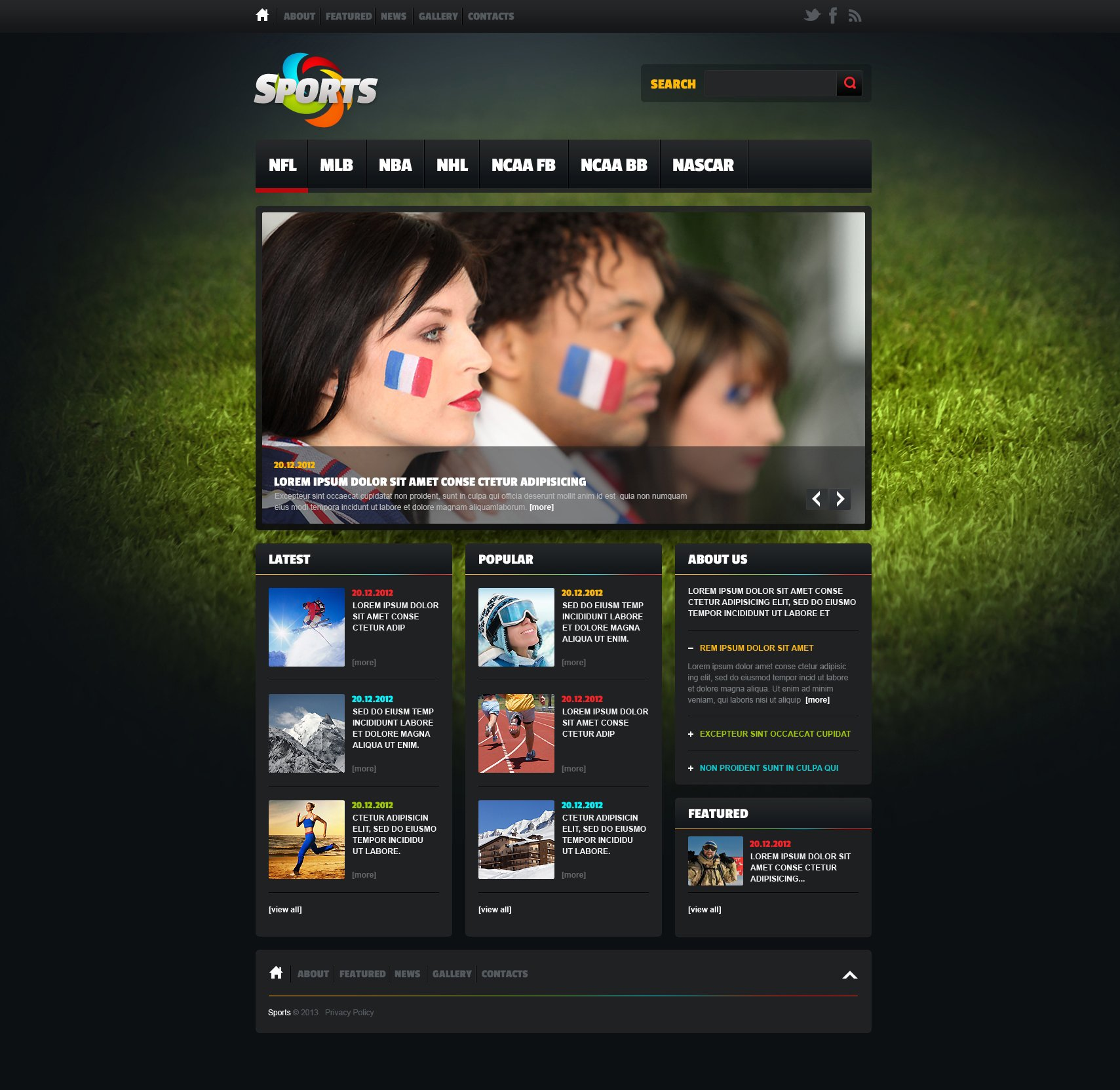 sports news website template  46919