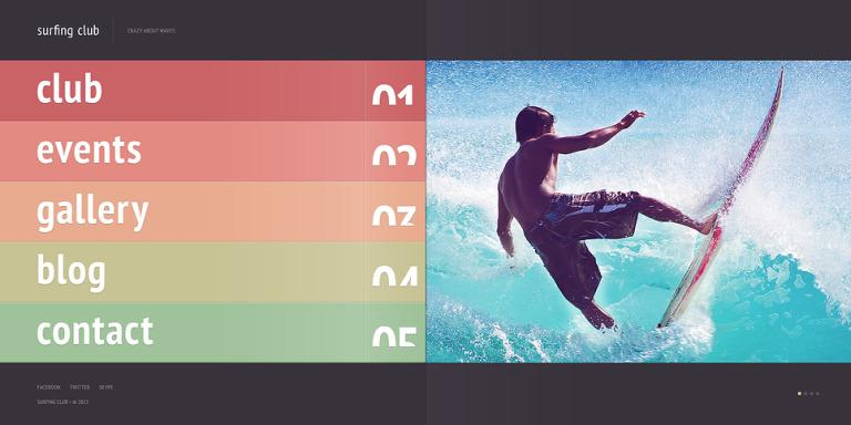 Surfing Website Template New Screenshots BIG