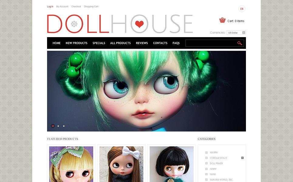 Template ZenCart  para Sites de Loja de Brinquedos №46970 New Screenshots BIG