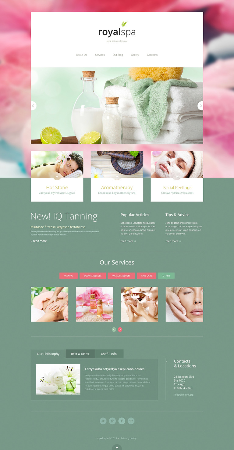 Tender Spa Salon Joomla Template New Screenshots BIG