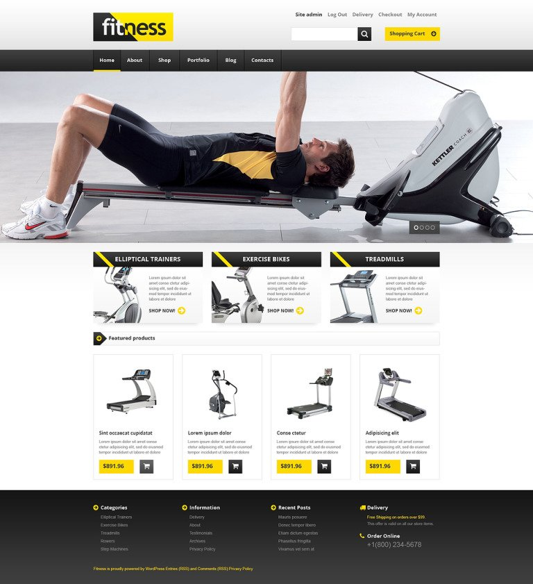 Training Equipment WooCommerce Theme New Screenshots BIG